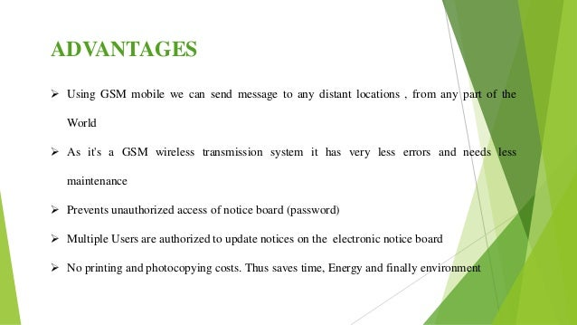 advantages and dissadvantages of using gsm There are many advantages and disadvantages to using the telephone as a method of the main advantages and disadvantages of the telephone as a.