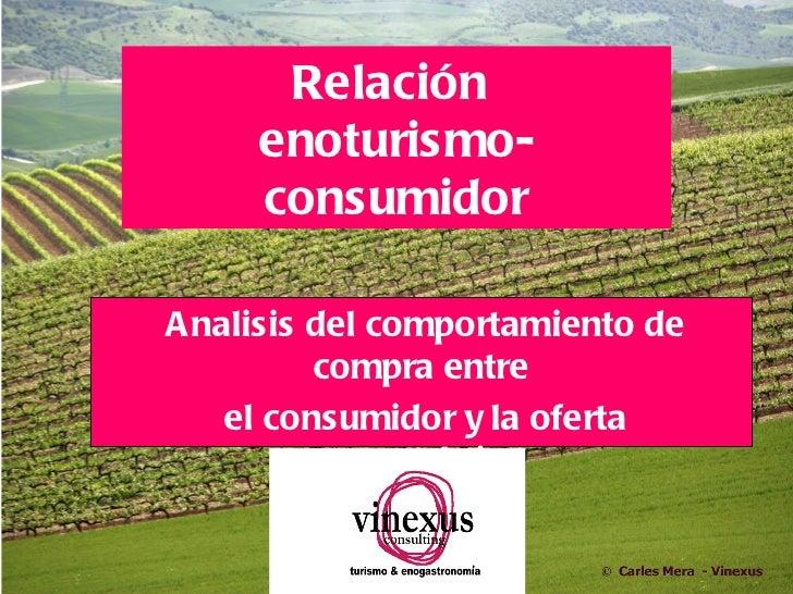 Relación     enoturismo-     consumidorAnalisis del comportamiento de         compra entre   el consumidor y la oferta    ...
