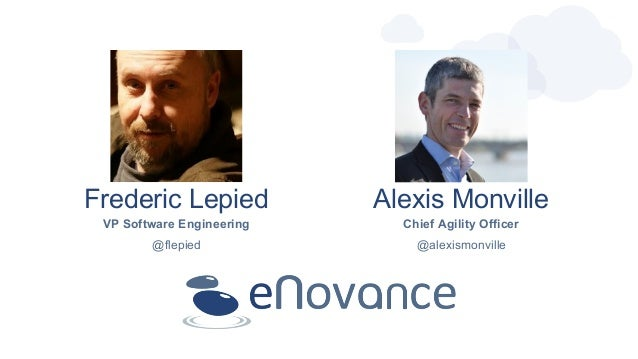 Frederic Lepied Alexis Monville VP Software Engineering Chief Agility Officer @flepied @alexismonville