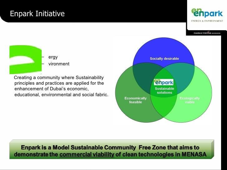 Enpark Initiative <ul><ul><li>ergy </li></ul></ul><ul><ul><li>vironment </li></ul></ul><ul><li>Creating a community where ...