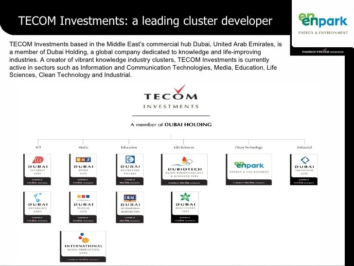 TECOM Investments: a leading cluster developer TECOM Investments based in the Middle East's commercial hub Dubai, United A...