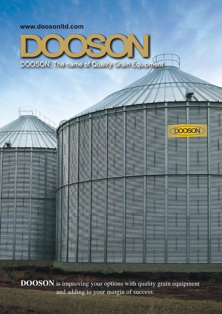 DOOSON, The name of Quality Grain Equipment     DOOSON is improving your options with quality grain equipment             ...