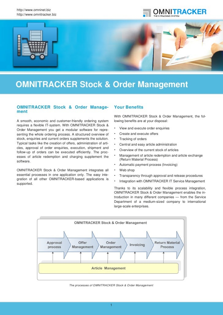 http://www.omninet.bizhttp://www.omnitracker.bizOMNITRACKER Stock & Order ManagementOMNITRACKER Stock & Order Manage-     ...