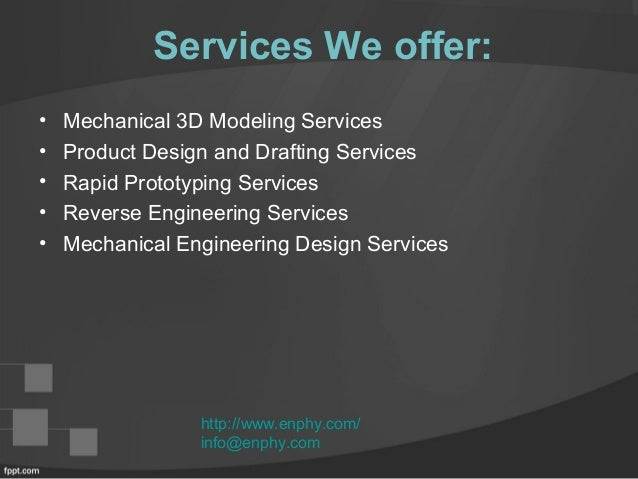 Enphy engineering design services provider company for Engineering design firm