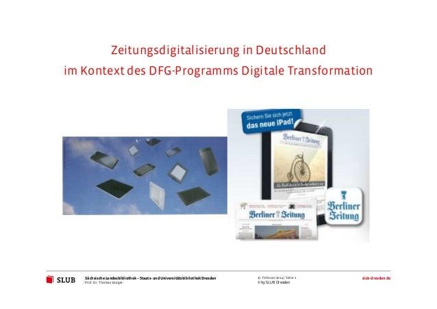 Sächsische Landesbibliothek– Staats- und UniversitätsbibliothekDresden slub-dresden.de © by SLUB Dresden 27. Februar 2014 ...