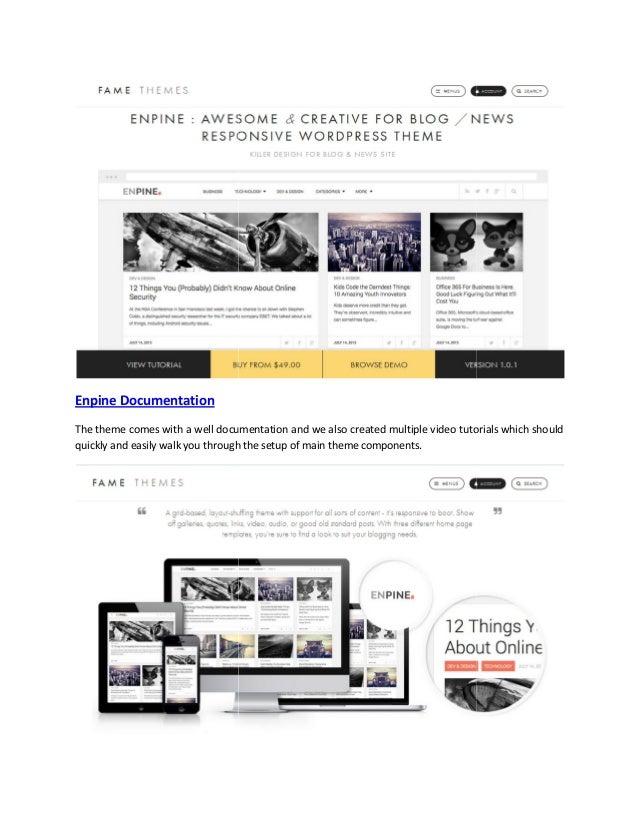 Enpine   awesome & creative for blog news responsive theme Slide 2