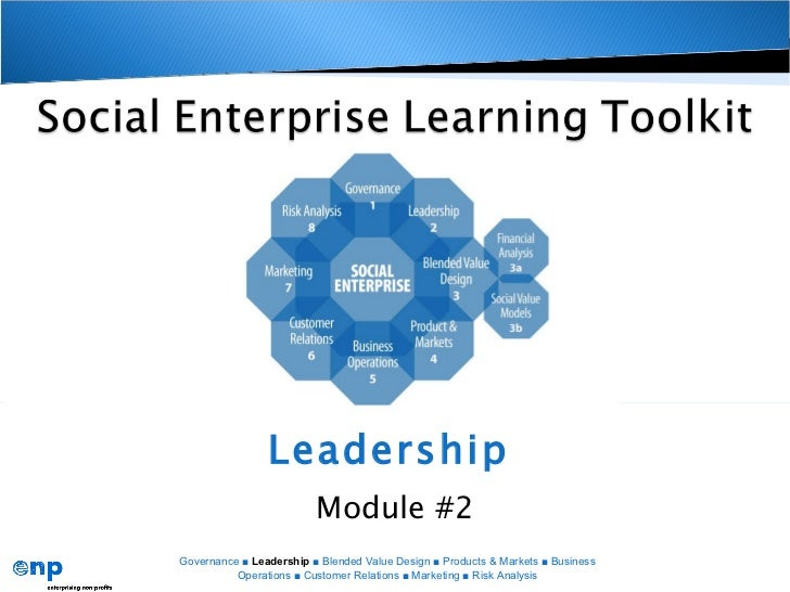 Leadership   Module #2 Governance ■  Leadership  ■ Blended Value Design ■ Products & Markets ■ Business Operations ■ Custo...