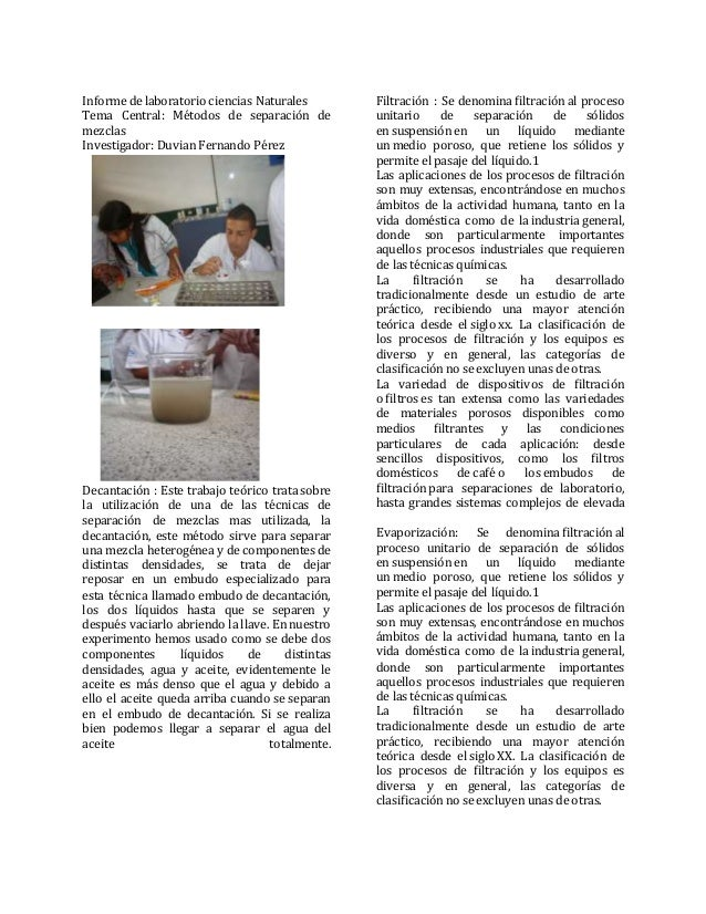 En proceso informes de laboratorio duvian