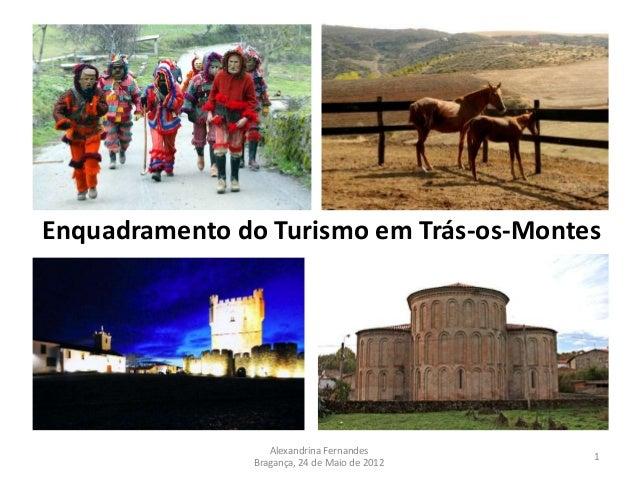 Enquadramento do Turismo em Trás-os-Montes                  Alexandrina Fernandes                                         ...