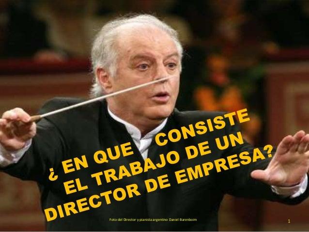 1Foto del Director y pianista argentino Daniel Barenboim