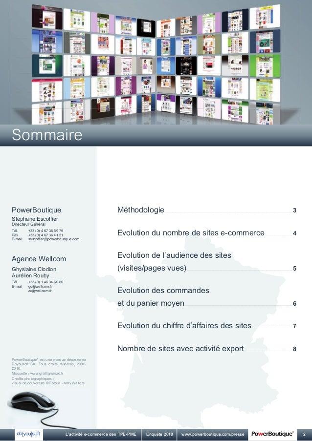 L'activité e-commerce des TPE-PME - Edition 2010 Slide 2