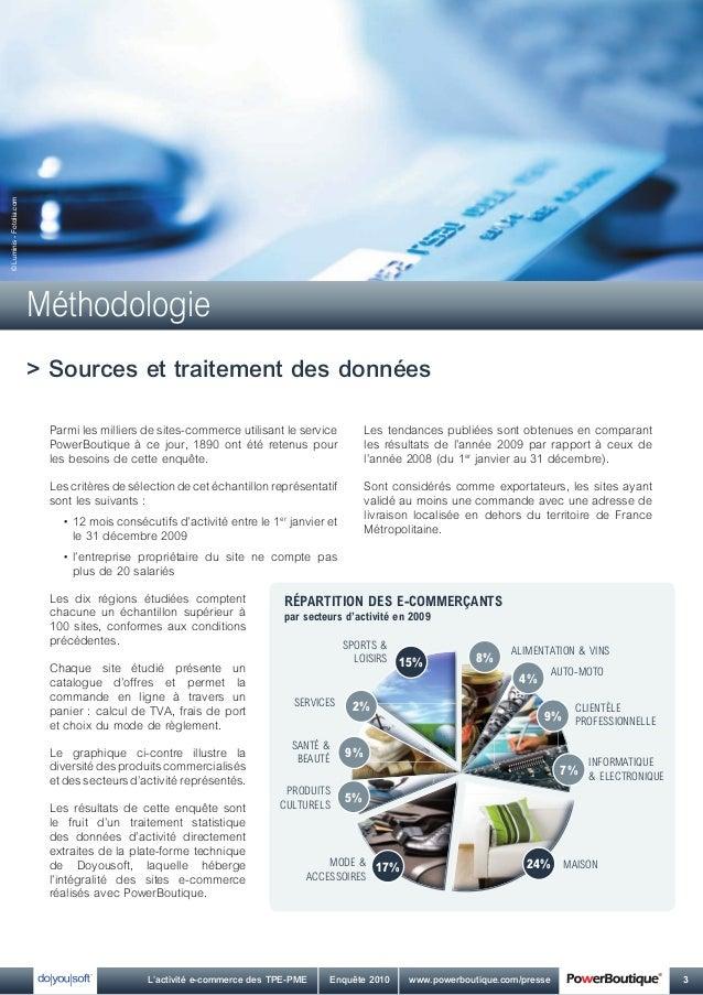 L'activité e-commerce des TPE-PME - Edition 2010 Slide 3