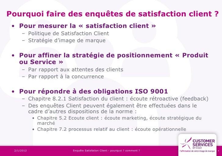 Enquete Satisfaction Client Les Bonnes Pratiques