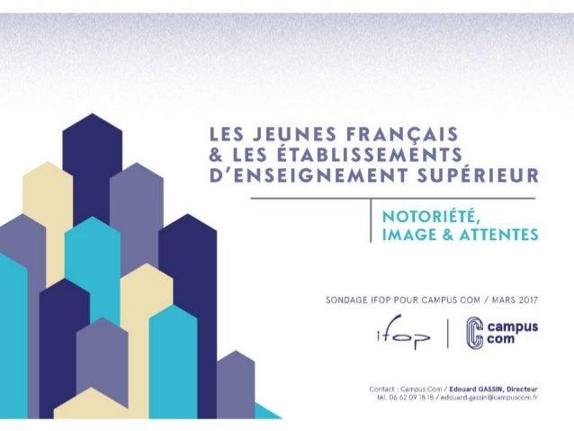 Enquête : les jeunes français et les établissements d'enseignement supérieur