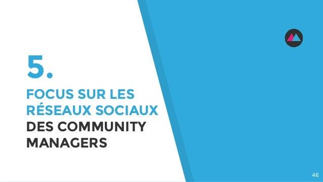 5. FOCUS SUR LES RÉSEAUX SOCIAUX DES COMMUNITY MANAGERS 46