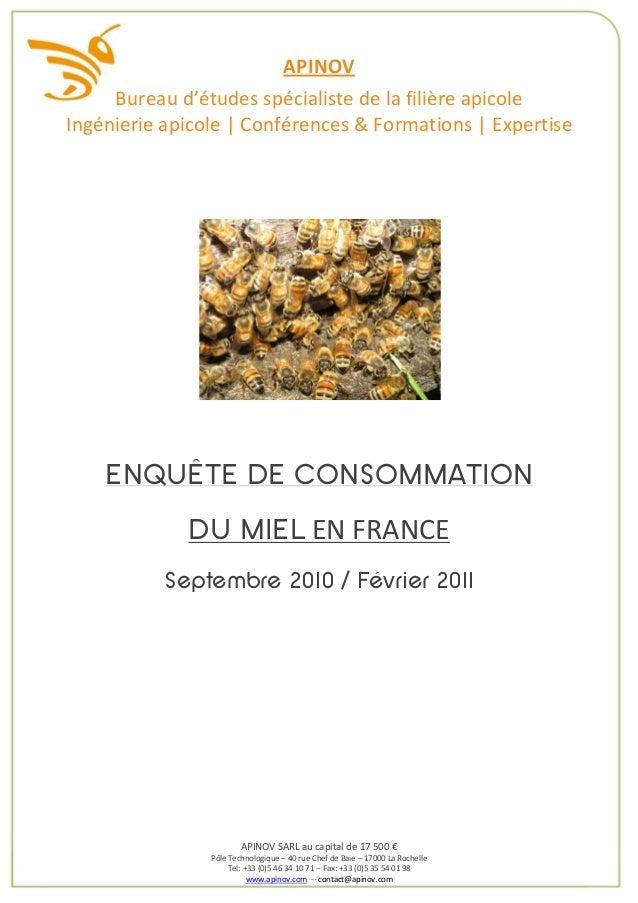 APINOV     Bureau d'études spécialiste de la filière apicoleIngénierie apicole | Conférences & Formations | Expertise    E...