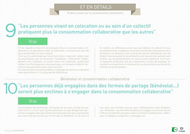 """Design by Collectif Bam et en détails 10 idées reçues sur la consommation collaborative 9 10 """"Les personnes vivant en colo..."""
