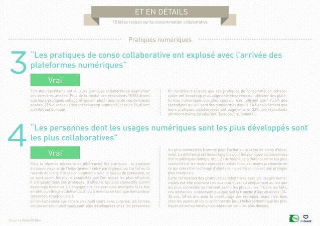 """Design by Collectif Bam et en détails 10 idées reçues sur la consommation collaborative 3 4 """"Les pratiques de conso collab..."""