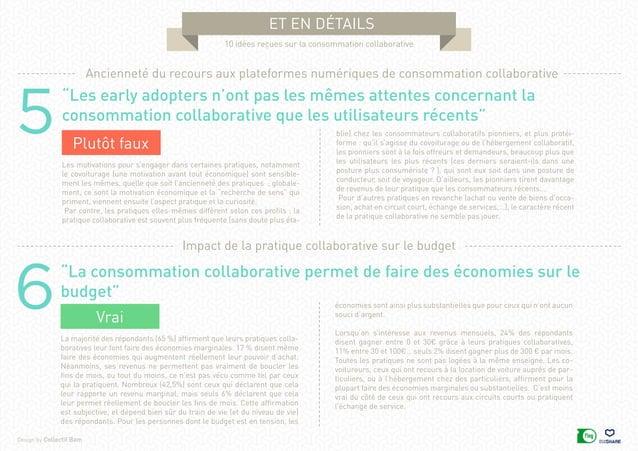 """Design by Collectif Bam et en détails 10 idées reçues sur la consommation collaborative 6""""La consommation collaborative pe..."""