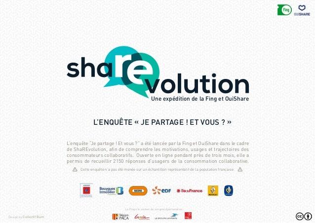 """L'enquête """"Je partage ! Et vous ?"""" a été lancée par la Fing et OuiShare dans le cadre de ShaREvolution, afin de comprendre..."""
