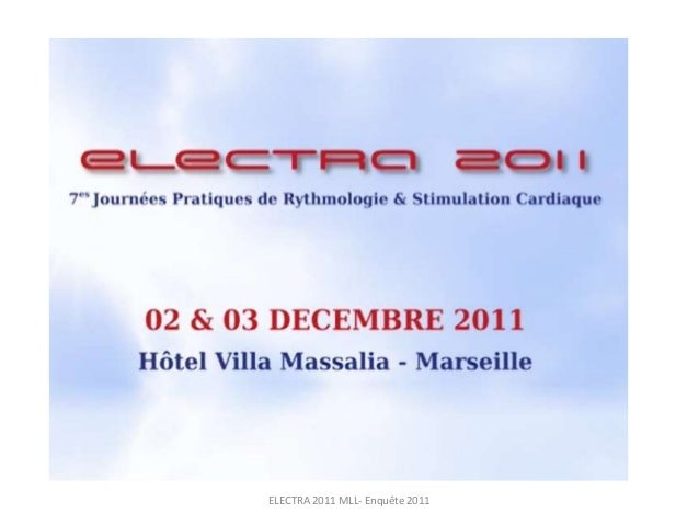 ELECTRA 2011 MLL- Enquête 2011