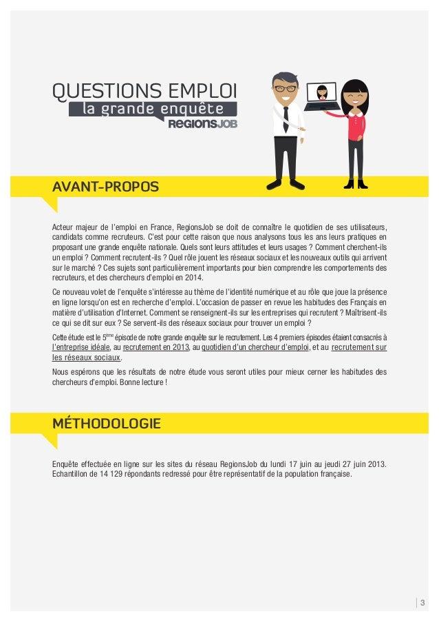 Enquête : Identité numérique et recherche d'emploi Slide 3