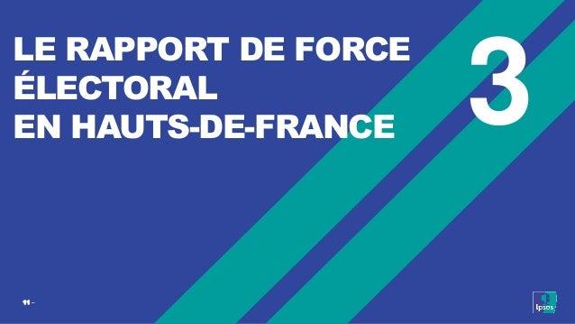 11 ‒ 3 LE RAPPORT DE FORCE ÉLECTORAL EN HAUTS-DE-FRANCE