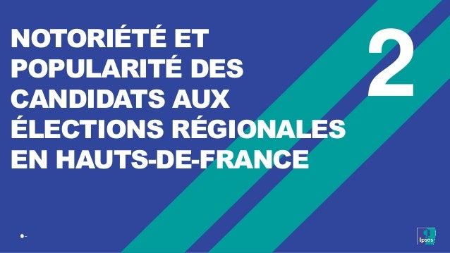 9 ‒ 2 NOTORIÉTÉ ET POPULARITÉ DES CANDIDATS AUX ÉLECTIONS RÉGIONALES EN HAUTS-DE-FRANCE