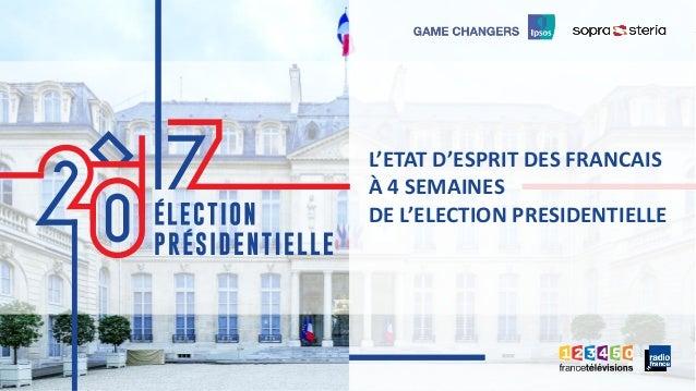 1 ©Ipsos. PRÉSIDENTIELLE 2017 11 L'ETAT D'ESPRIT DES FRANCAIS À 4 SEMAINES DE L'ELECTION PRESIDENTIELLE