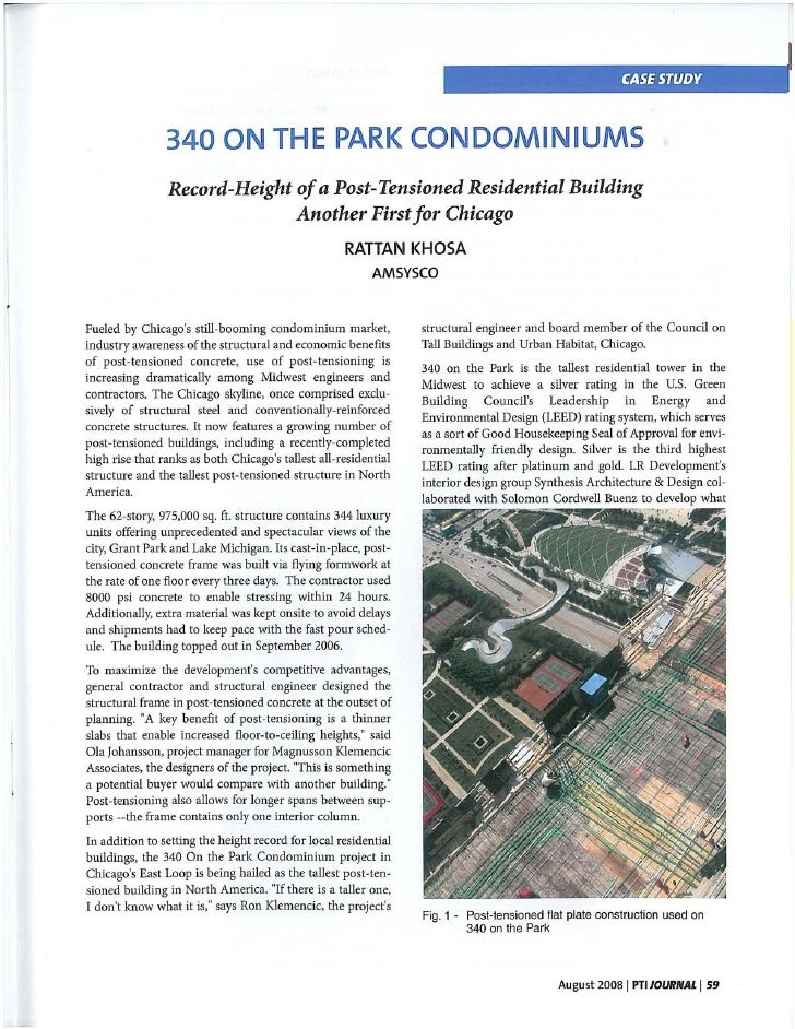 PTI Journal Article: 340 On The Park