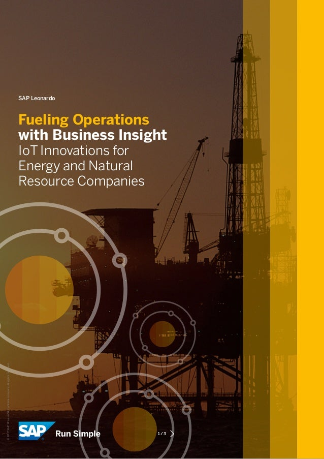 SAP Leonardo Fueling Operations with Business Insight IoT Innovations for Energy and Natural Resource Companies 1/3 ©201...