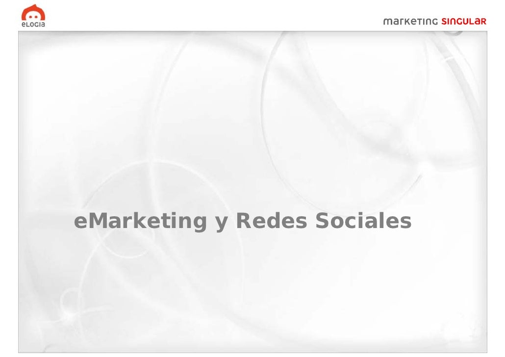 eMarketing y Redes Sociales