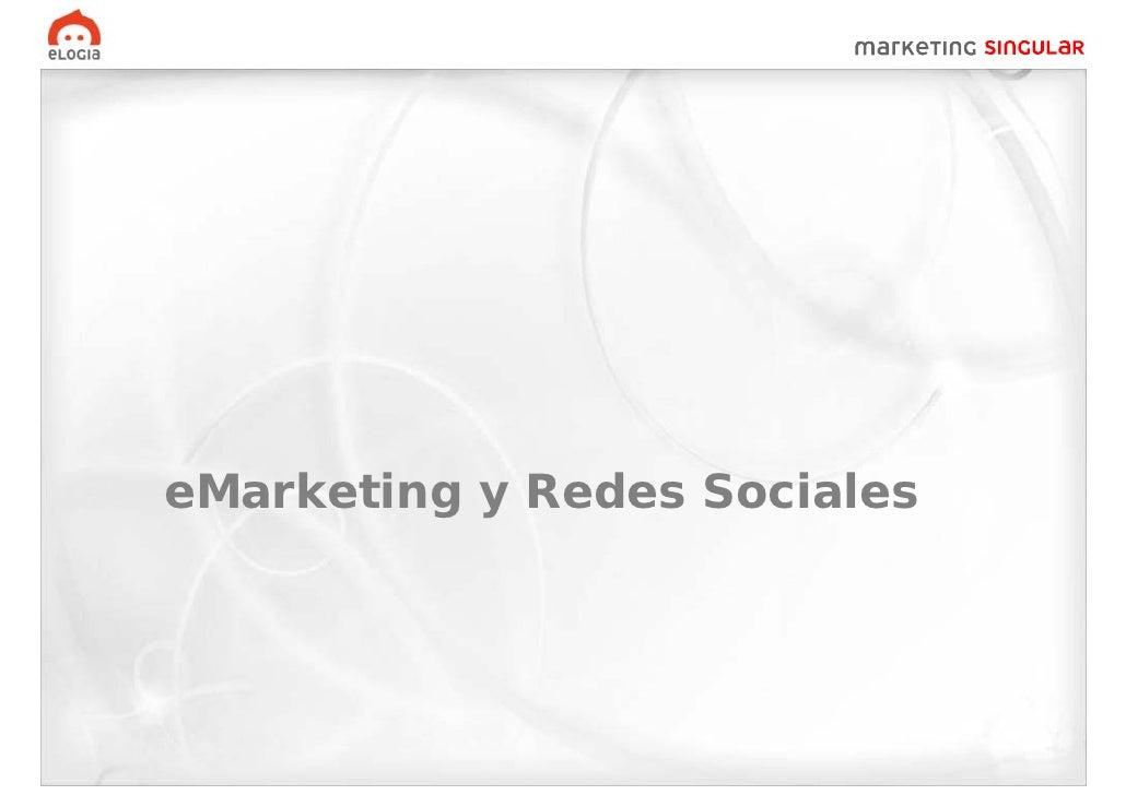 eMarketing y Redes Sociales