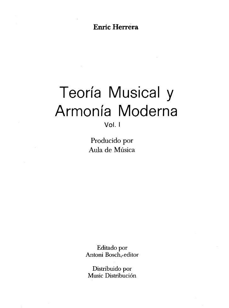 Enric herrera   teoria musical y armonia moderna vol 1