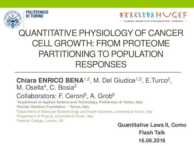 Chiara ENRICO BENA1,2, M. Del Giudice1,2, E.Turco3, M. Osella4, C. Bosia2 Collaborators: F. Ceroni5, A. Grob5 1Department ...