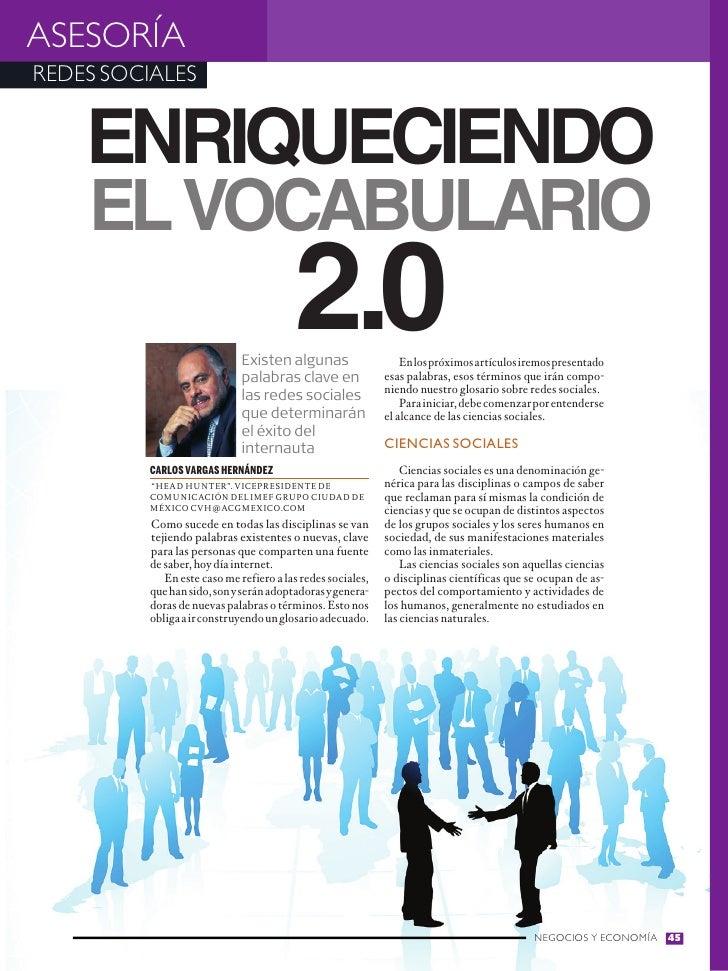 ASESORÍAREDES SOCIALES    Enriqueciendo    el vocabulario                                        2.0                      ...