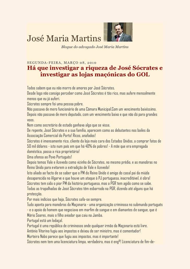 José Maria Martins                        Blogue do advogado José Maria Martins    S E G U N D A - F E IR A , M A R Ç O 0 ...