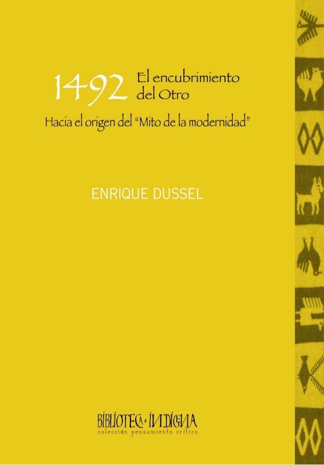 1492 EL ENCUBRIMIENTO DEL OTRO
