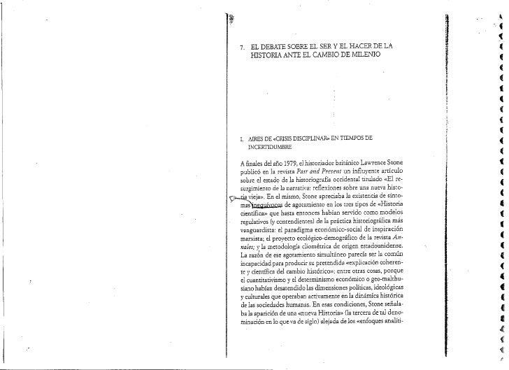 Enrique Moradiellos -  CAPITULO 7 el debate sobre el ser y el hacer historia