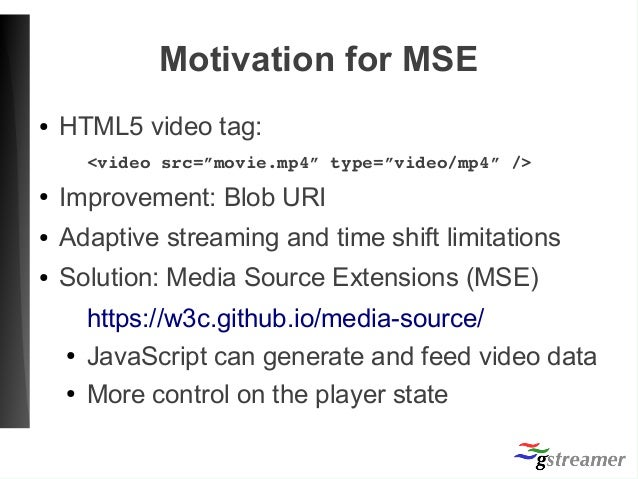 Media Source Extension on Webkit (GStreamer Conference 2017)