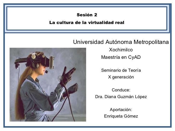 Universidad Autónoma Metropolitana Xochimilco Maestría en CyAD Seminario de Teoría X generación Conduce: Dra. Diana Guzmán...