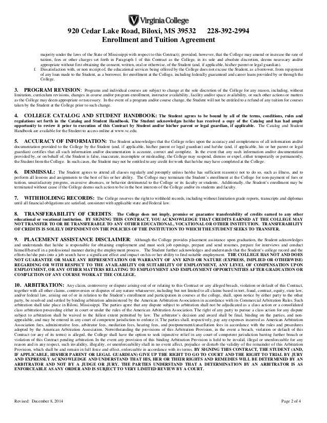 Enrollment Agreement Biloxi Final 12 8 14
