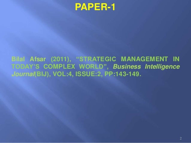 "strategic management in today's complex world The ""digital mindset: strategic management your global leadership skills and cultural intelligence to be successful in today's volatile and complex world."