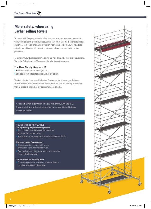 Layher rolsteigers ladders katalog 8118229 0418 pa01022416steigtechnikenpdf 38 fandeluxe Gallery