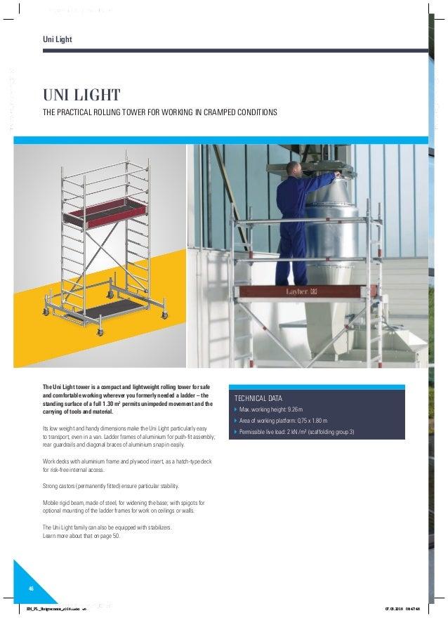 Layher rolsteigers ladders katalog 8118229 0418 pa01022416steigtechnikenpdf 46 46 uni fandeluxe Gallery