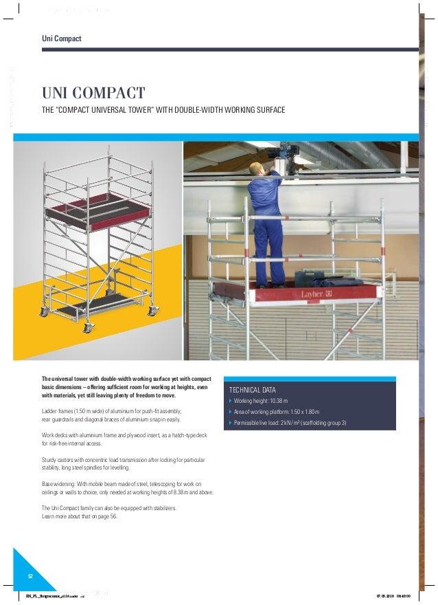 Layher rolsteigers ladders katalog 8118229 0418 pa01022416steigtechnikenpdf 52 52 uni fandeluxe Gallery