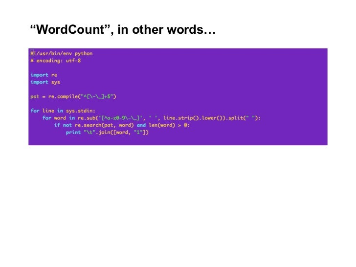 """WordCount"", in other words…"