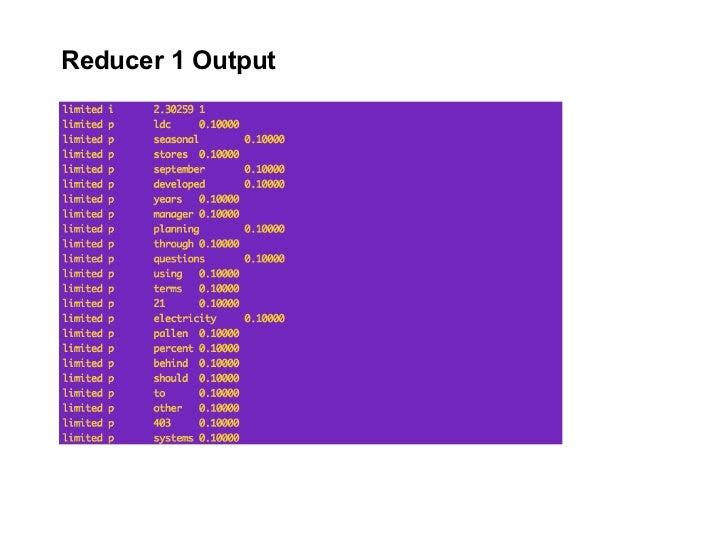 Reducer 1 Output