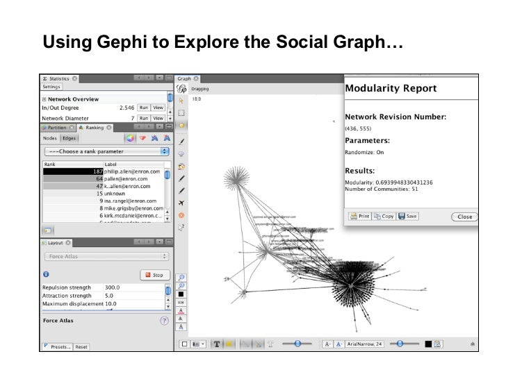 Using Gephi to Explore the Social Graph…