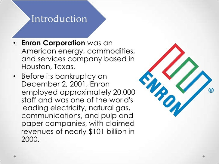 acct paper the bankruptcy of enron Southern district of new york honorable enron corp filed for bankruptcy pursuant to chapter 11 2004 order (docket no 22559), the commercial paper.